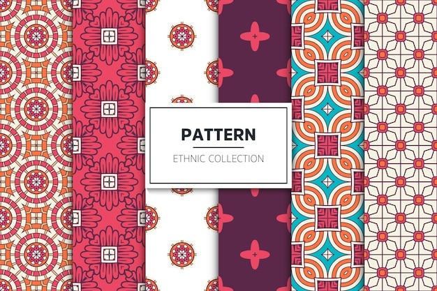 Luksusowa kolekcja ozdobnych etnicznych wzorów