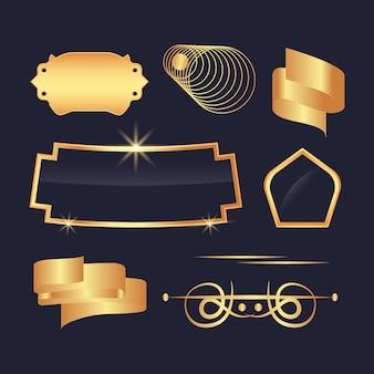 Luksusowa kolekcja złotych elementów