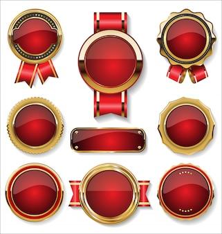 Luksusowa kolekcja złotych odznak i etykiet premium