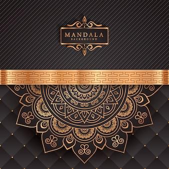 Luksusowa mandala ozdobny element etniczny tło