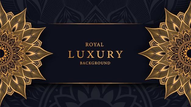Luksusowa mandala w arabeskowym złotym stylu ozdobnym