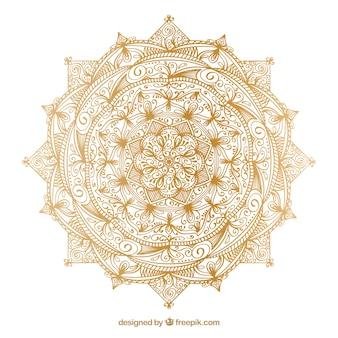 Luksusowa mandala w złotym kolorze