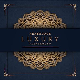 Luksusowa mandala ze złotym arabeskowym wzorem. arabski islamski styl wschodni