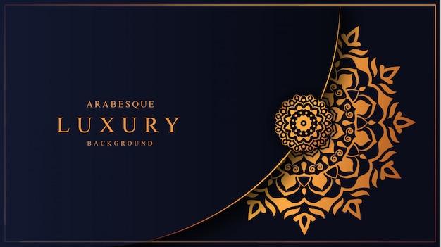 Luksusowa mandala ze złotym wzorem arabeska