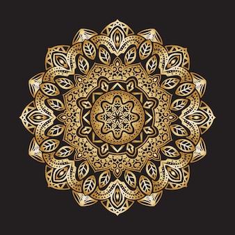 Luksusowa ozdobna mandala islamska dekoracja kwiatowy złoty