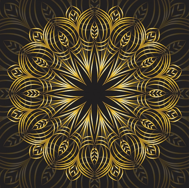 Luksusowa ozdobna mandala