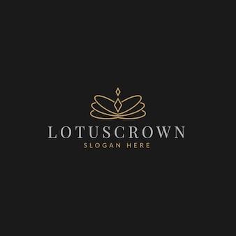 Luksusowa prosta elegancka korona butik z diamentową biżuterią logo