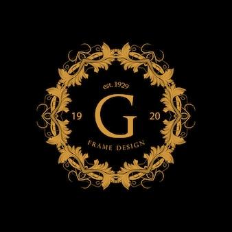 Luksusowa ramka w złotym kolorze