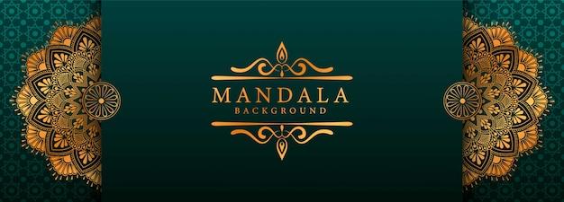 Luksusowa sztuka mandali z arabskim islamskim stylem wschodnim w tle