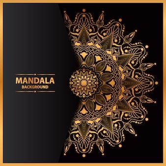 Luksusowa sztuka mandali z geometrycznym kole
