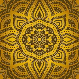 Luksusowa sztuka ze złotym bezszwowym wschodnim