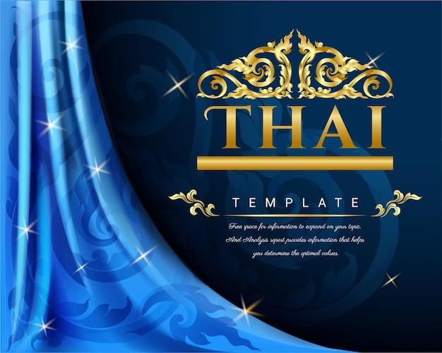 Luksusowa tajska tradycyjna koncepcja.