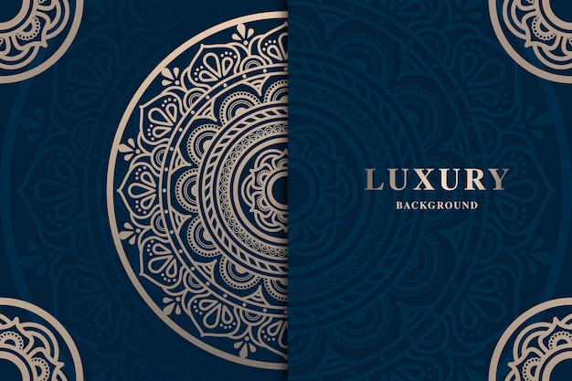 Luksusowa tapeta z mandalą