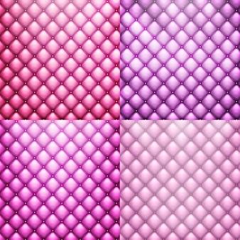 Luksusowa tekstura różowych skórzanych mebli