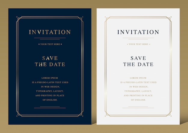 Luksusowa wektorowa zaproszenie karta