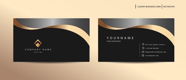 Luksusowa wizytówka z minimalistycznym szablonem w stylu złota