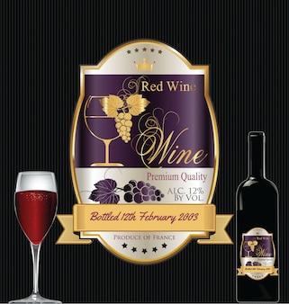 Luksusowa, złota etykieta na wino