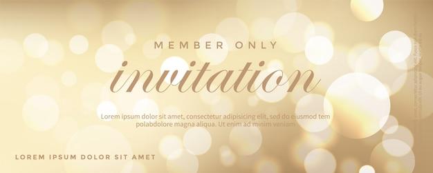 Luksusowa złota karta zaproszenie