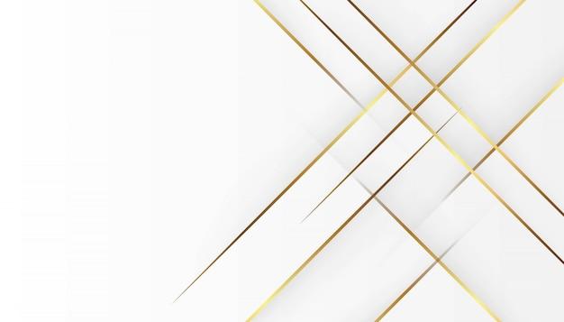 Luksusowa złota lekka linia biały szary tło