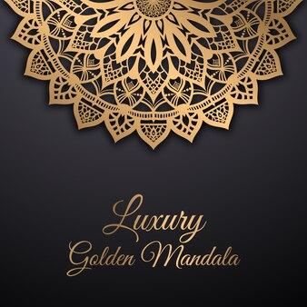 Luksusowa złota mandala