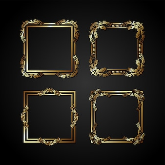 Luksusowa złota rama wektor