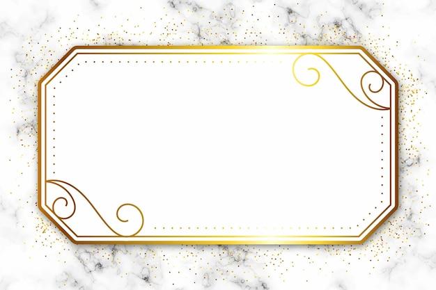 Luksusowa złota rama z ornamentami