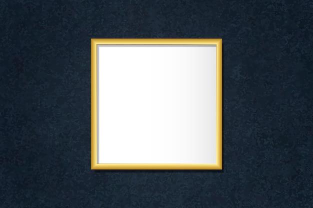 Luksusowa złota ramka makieta na wektor ściany