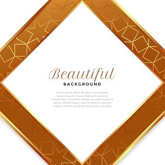 Luksusowe białe i złote tło kształt diamentu