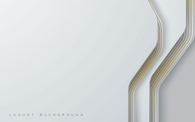 Luksusowe białe tło z dekoracją ze złotej linii