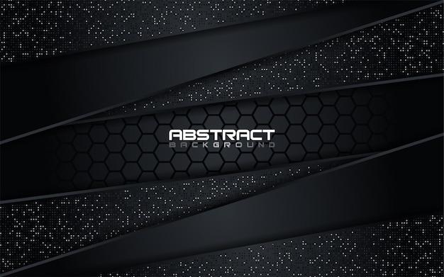 Luksusowe ciemne połączenie z metalicznymi liniami i kropkami w tle