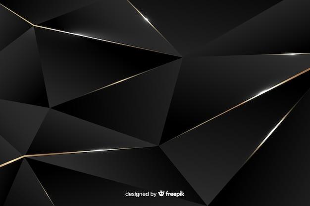 Luksusowe ciemne tło wielokąta