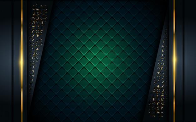 Luksusowe ciemne tło ze złotą linią.