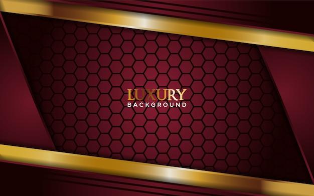 Luksusowe ciemnoczerwone tło ze złotą linią