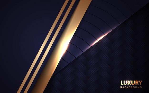 Luksusowe ciemnoniebieskie tło nakładają się na warstwy złotym światłem