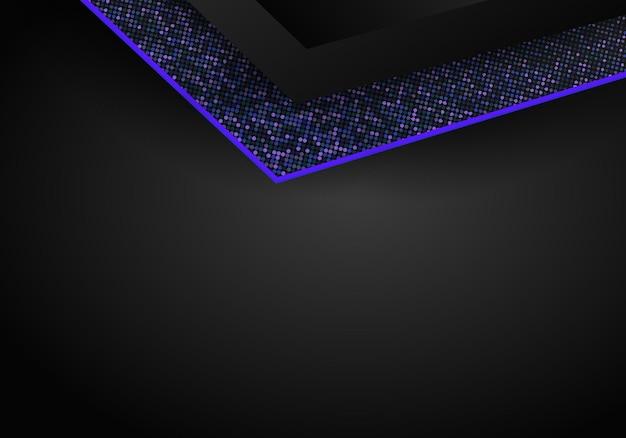 Luksusowe ciemnoniebieskie tło wymiaru nakładania się na wzór metalu. kolorowe tekstury półtonów z błyszczącymi realistycznymi złotymi elementami. błyszczy półtony. szablon projektu nowoczesny wektor.