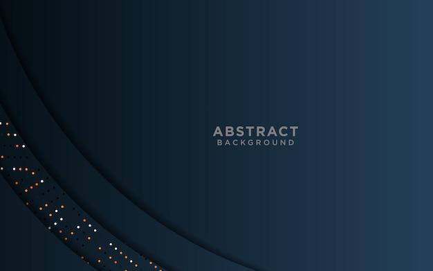 Luksusowe ciemnoniebieskie tło z nakładającym się okręgiem i warstwami kolorowych brokatów