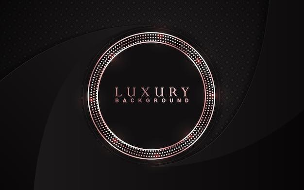 Luksusowe czarne tło z dekoracją złote błyszczy