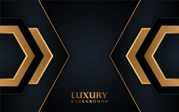 Luksusowe czarne tło z linią złota