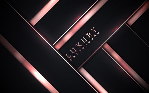Luksusowe czarne tło ze złotą dekoracją elementu