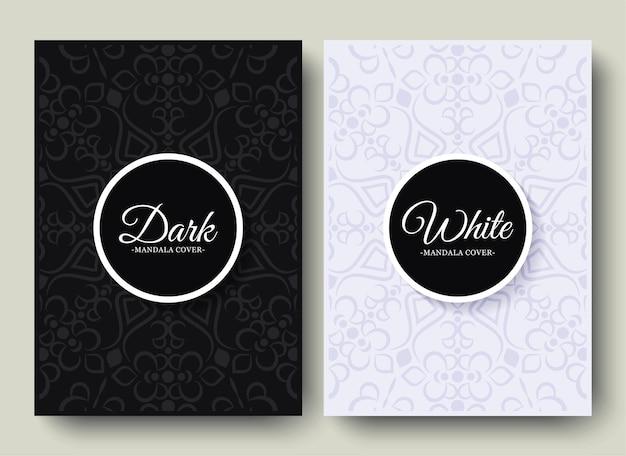 Luksusowe czarno-białe tło z wzorem obramowania