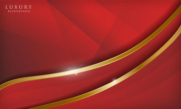 Luksusowe czerwone i złote fale abstrakcyjne tło