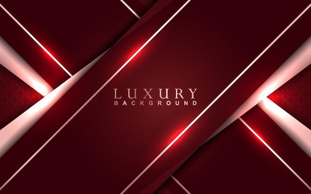Luksusowe czerwone tło ze złotą dekoracją