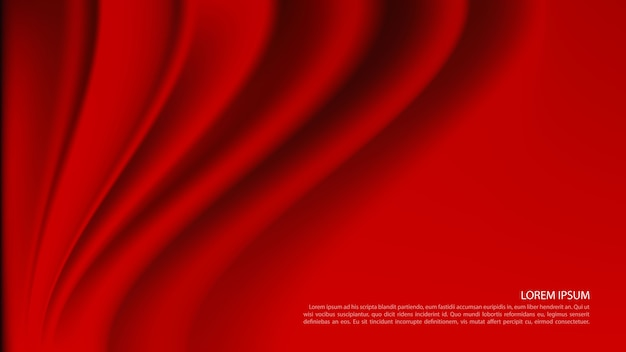 Luksusowe czerwone zasłony w tle