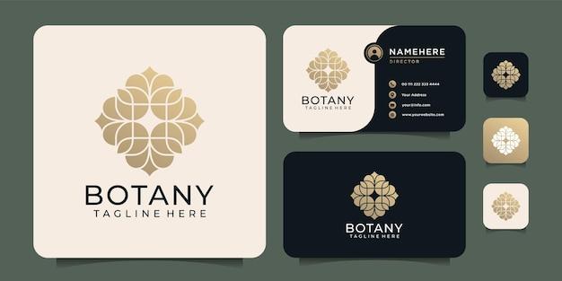 Luksusowe eleganckie piękno botanika kwiat logo modny butik spa ornament