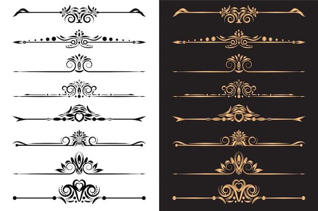Luksusowe elementy ozdobne i dekoracyjny zestaw przegród