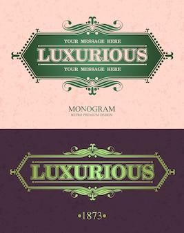 Luksusowe elementy ozdobne ramki.
