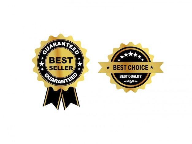 Luksusowe etykiety złote odznaki premium