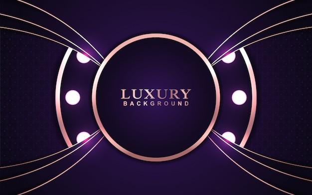 Luksusowe fioletowe tło z różową złotą dekoracją
