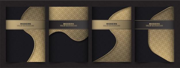 Luksusowe geometryczne menu okładki premium