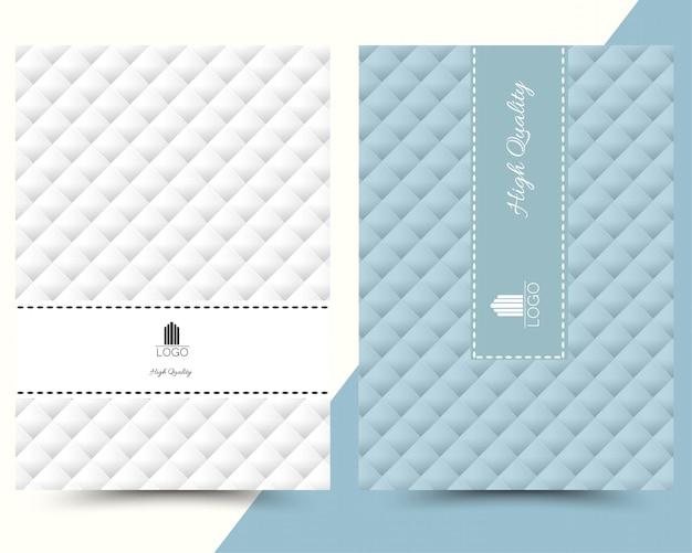 Luksusowe geometryczne menu okładki